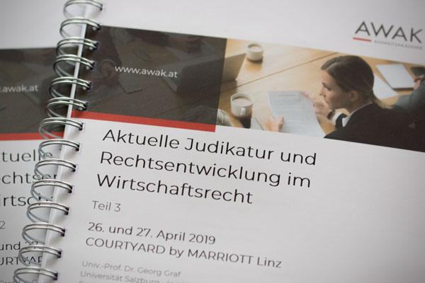 Aktuelle Judikatur und Rechtsentwicklung im Wirtschaftsrecht